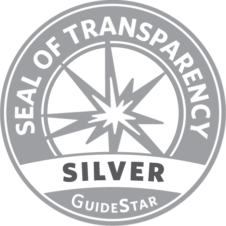 The Guidestar Logo and seal of transparency is pictured in black and white